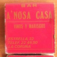 Cajas de Cerillas: CAJA DE CERILLAS INCOMPLETA A NOSA CASA LA CORUÑA. Lote 194587405