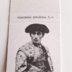 Cajas de Cerillas: CARTERITA CERILLAS - CARTEL FERIA SAN PEDRO ZAMORA - EL VITI - ANDRES VÁZQUEZ - EL LITRI - MIGUELIN. Lote 194597356