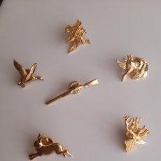 Cajas de Cerillas: LOTE 6 PINES - ANIMALES - CAZA. Lote 194602550
