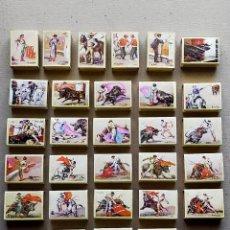 Cajas de Cerillas: CERILLAS TAUROMAQUIA, COLECCION G. CORROCHANO / M DE LEON: 29 CAJAS DE CERILLAS - FOSFORERA ESPAÑOLA. Lote 194677311