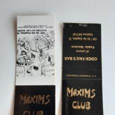 Cajas de Cerillas: CARTERITAS CERILLAS - CLUB MAXIMS ( MADRID ). Lote 194677596