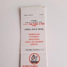 Cajas de Cerillas: ANTIGUA CARTERITA CERILLAS - ALMACENES GUIMOSAL - FERNANDO GUIMERA RUEDA ( SEVILLA ). Lote 194949958
