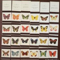 Cajas de Cerillas: COLECCION 24 CAJAS DE CERILLAS MARIPOSAS FOSFORERA PORTUGUESA. Lote 194967456