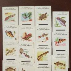 Cajas de Cerillas: COLECCION 15 CAJAS DE CERILLAS FAUNA FLUVIAL FOSFORERA ESPAÑOLA. Lote 194967843