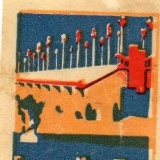 Cajas de Cerillas: FERIA DE MUESTRAS DE SAN SEBASTIÁN, 1923 CROMO PUBLICITARIO DE CAJA DE CERILLAS.AÑOS 20. Lote 195009387