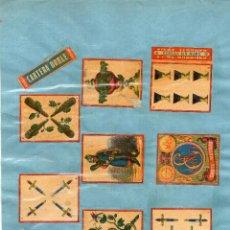 Cajas de Cerillas: LÁMINA CAJAS DE CERILLAS BARAJA SIGLO XIX. Lote 195031070