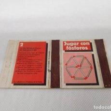 Cajas de Cerillas: M69 CAJA FOSFOROS JUGAR CON FOSFOROS. FOSFOROS DEL PIRINEO. AÑOS 70.. Lote 195044458