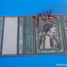 Cajas de Cerillas: COMPLETA CAJA CERILLAS - SALVADOR PEREZ Y GISBERT - MUJER CON TRAJE DE EPOCA - SOBRE 1870 -S. XIX. Lote 195198451