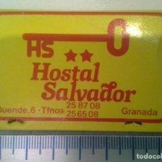 Cajas de Cerillas: HOSTAL -CASA - RESTAURANTE SALVADOR DE GRANADA . COMPLETA. CAJA DE CERILLAS. Lote 195245380