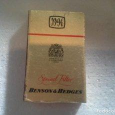 Cajas de Cerillas: BENSON & HEDGES SPECIAL FILTER LONDRES . COMPLETA. CAJA DE CERILLAS. Lote 195245737