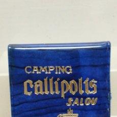 Cajas de Cerillas: CAJA CERILLAS CON FUNDA SALOU CAMPING CALLIPOLIS . Lote 195251258