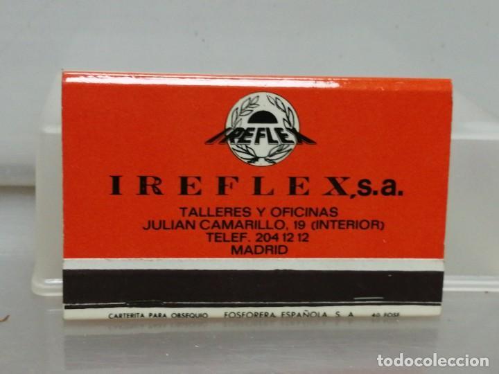 CAJA CERILLAS MADRID IREFLEX RECAMBIOS PARA COCHES (Coleccionismo - Objetos para Fumar - Cajas de Cerillas)