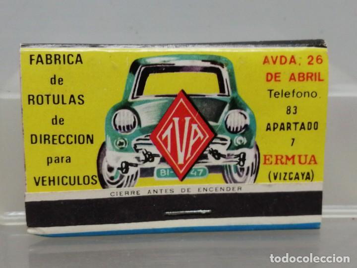 CAJA CERILLAS VIZCAYA TVA RECAMBIOS PARA COCHES (Coleccionismo - Objetos para Fumar - Cajas de Cerillas)