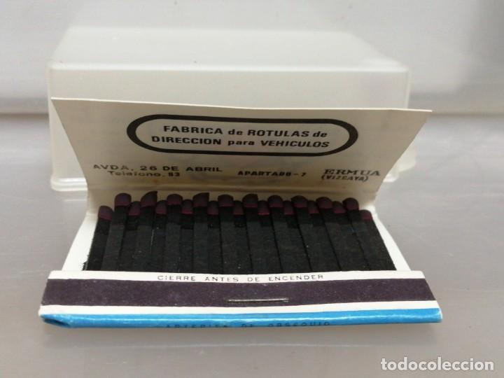 Cajas de Cerillas: CAJA CERILLAS VIZCAYA TVA RECAMBIOS PARA COCHES - Foto 3 - 195251330