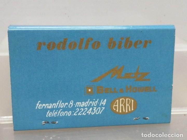 CAJA CERILLAS MADRID RODOLFO BIBER METZ RECAMBIOS PARA COCHES (Coleccionismo - Objetos para Fumar - Cajas de Cerillas)