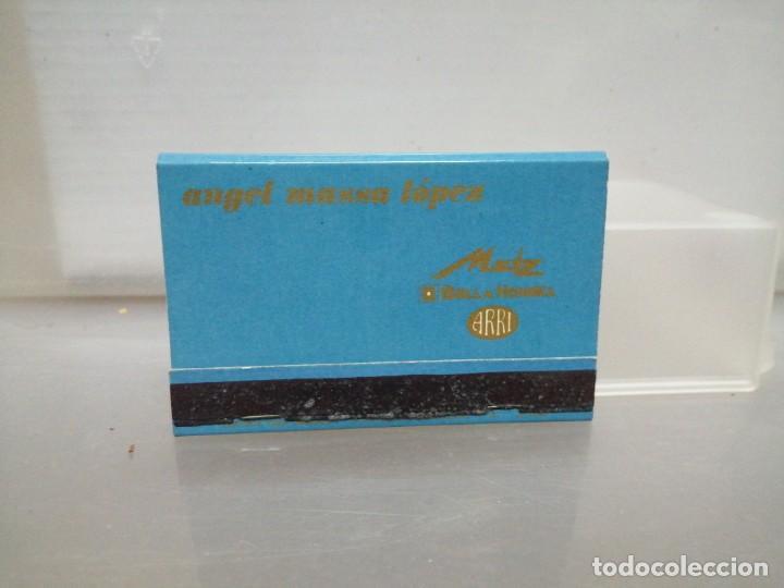 Cajas de Cerillas: CAJA CERILLAS MADRID RODOLFO BIBER METZ RECAMBIOS PARA COCHES - Foto 2 - 195251368