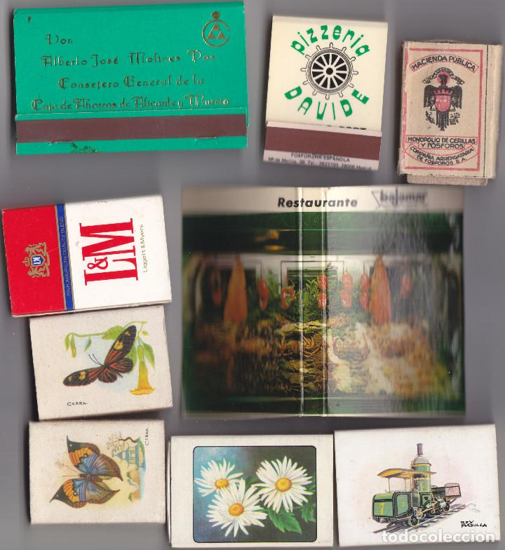 9 CAJAS CERILLAS LLENAS - VER LOS DETALLES EN LA DESCRIPCION DE LAS MISMAS. (Coleccionismo - Objetos para Fumar - Cajas de Cerillas)