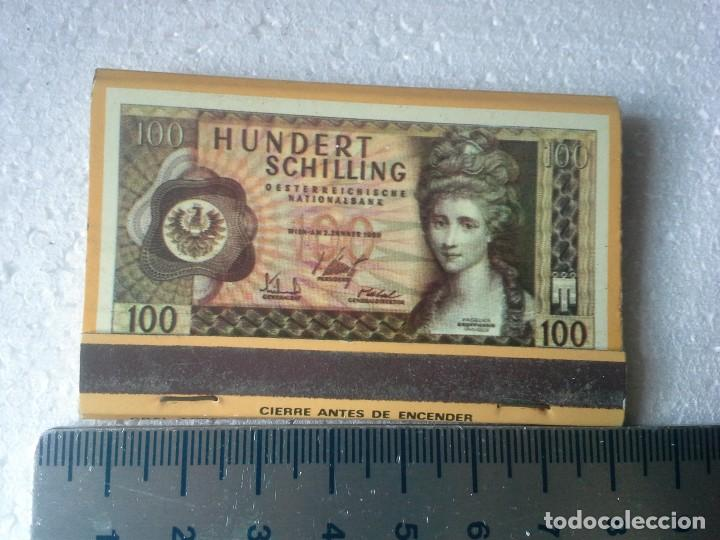 Cajas de Cerillas: banco popular español .serie billetes nº 15 100 chelines de austria. completa. caja de cerillas. - Foto 2 - 195274180