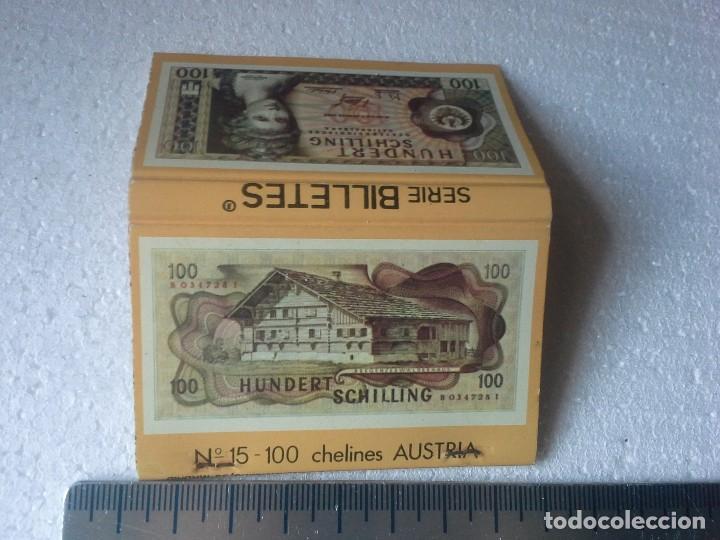 Cajas de Cerillas: banco popular español .serie billetes nº 15 100 chelines de austria. completa. caja de cerillas. - Foto 4 - 195274180