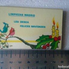 Cajas de Cerillas: LIMPIEZAS MADRID. COMPLETA. CAJA DE CERILLAS. . Lote 195276128