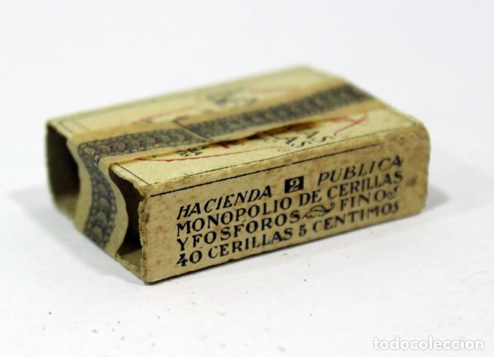 Cajas de Cerillas: ANTIGUA CAJA DE CERILLAS PRECINTADA. HACIENDA PÚBLICA. - Foto 3 - 195300018