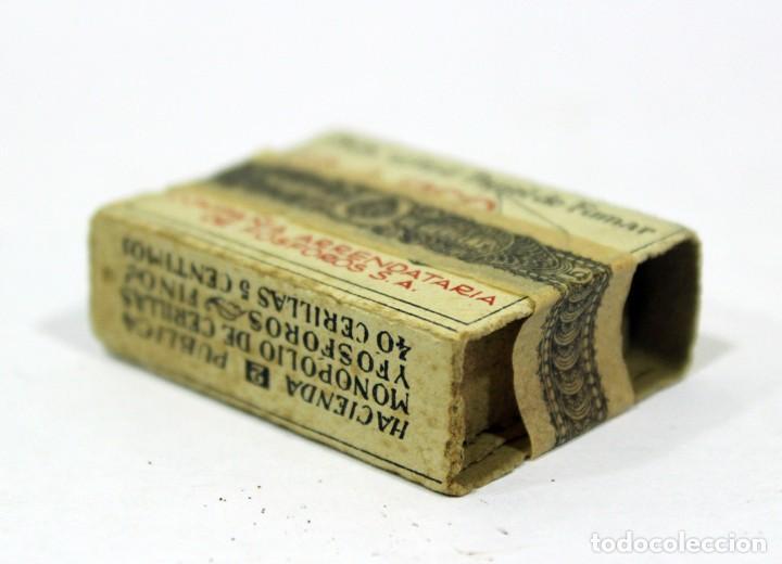 Cajas de Cerillas: ANTIGUA CAJA DE CERILLAS PRECINTADA. HACIENDA PÚBLICA. - Foto 7 - 195300018