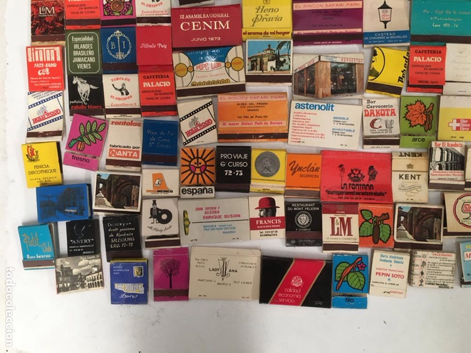 Cajas de Cerillas: Importante lote de cerillas publicidad ver fotos - Foto 11 - 195300728