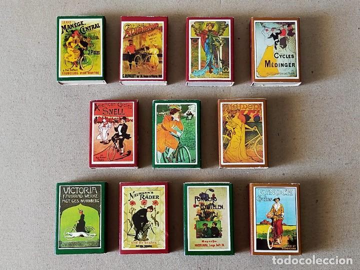CAJAS DE CERILLAS SERIE: CARTELES DE BICICLETAS: 11 CAJAS DISTINTAS - FOSFOROS DEL PIRINEO (Coleccionismo - Objetos para Fumar - Cajas de Cerillas)