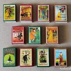Cajas de Cerillas: CAJAS DE CERILLAS SERIE: CARTELES DE BICICLETAS: 11 CAJAS DISTINTAS - FOSFOROS DEL PIRINEO. Lote 195386341
