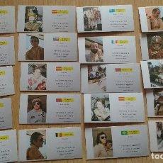 Cajas de Cerillas: SERIE COMPLETA 20 CAJAS SIN CERILLAS DE PILOTOS FORMULA-1 AÑOS 70-FOSFORERA ESPAÑOLA-VER DESCRIPCION. Lote 195414246
