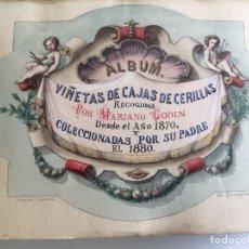 Cajas de Cerillas: CERILLAS, LA MAYOR COLECCIÓN PRIVADA DE ESPAÑA DE VIÑETAS DE CAJAS DE CERILLAS DEL SIGLO XIX. Lote 195433462