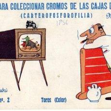 Cajas de Cerillas: ¡¡FANTÁSTICO ÁLBUM CARTEROFOSFOROFILIA LUYVE PARA LAS CAJAS DE CERILLAS SERIE TOROS!!. Lote 195462126