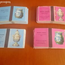 Cajas de Cerillas: 4 LOTES DE 20 CAJAS CADA UNA DE CERAMICA FRANCESA E INGLESA COMPLETAS. Lote 195920638