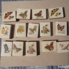 Cajas de Cerillas: 14CAJAS CERILLAS ANTIGUAS MARIPOSAS. Lote 196369106
