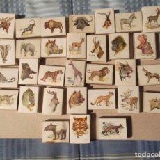 Cajas de Cerillas: 31 CAJAS CERILLAS ANTIGUAS ANIMALES. Lote 196369755