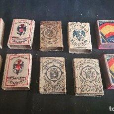 Cajas de Cerillas: LOTE DE 10 CAJAS DE CERILLAS ANTIGUAS DE HACIENDA PUBLICA , LEER DESCRIPCION. Lote 197424013