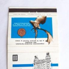 Cajas de Cerillas: CARTERITA CERILLAS - BANCO DE BILBAO - EXPOSICIÓN MUNDIAL FORESTAL, DEL MUEBLE, PESCA Y CAZA. Lote 199213161