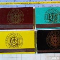 Cajas de Cerillas: 4 CAJAS CAJETILLAS DE CERILLAS. ASOCIACIÓN DE ESTUDIANTES DE LA ESCUELA SOCIAL LEÓN. Lote 199685766