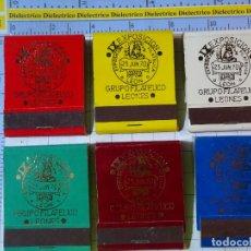 Cajas de Cerillas: 6 CAJAS CAJETILLAS DE CERILLAS. IX EXPOSICIÓN FILATÉLICA LEÓN 1970. GRUPO FILATÉLICO LEONÉS. Lote 199685853