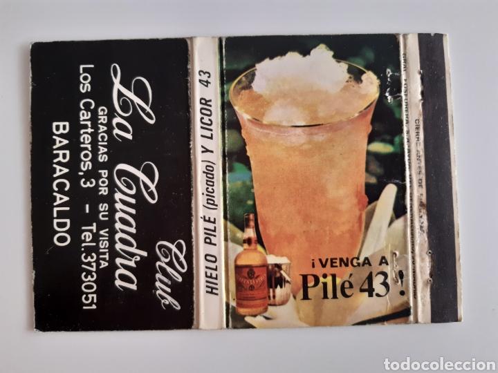 Cajas de Cerillas: CARTERITA CERILLAS - CLUB LA CUADRA ( BARACALDO - BILBAO) - PILE 43. - Foto 2 - 199789213
