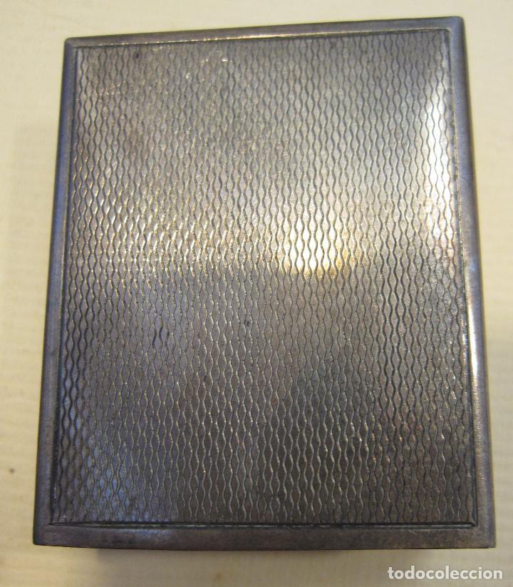 FUNDA DE PLATA PARA CAJA DE CERILLAS. 15 GR. 4,3 X 3,5 X 1,5 CM (Coleccionismo - Objetos para Fumar - Cajas de Cerillas)