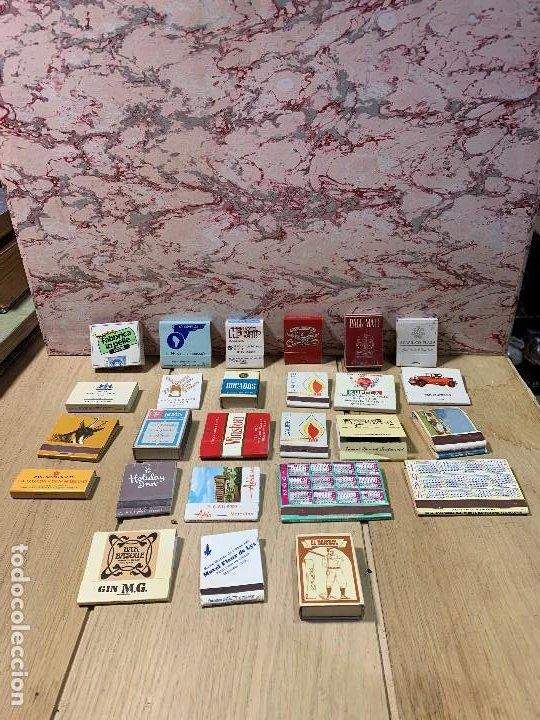 COLECCION 26 CAJAS CERILLAS VARIADAS TEMATICA ESPAÑA FRANCIA CANADA MEXICO EEUU VER FOTOS (Coleccionismo - Objetos para Fumar - Cajas de Cerillas)