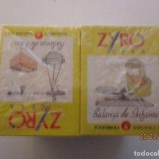 Cajas de Cerillas: PAQUETE DE DIEZ CAJAS DE CERILLAS DE COLECCION DE BALANZAS BASCULAS Y PESOS. Lote 200023277