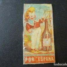 Cajas de Cerillas: POR ESPAÑA CROMO ENVUELTA CAJA DE CERILLAS SIGLO XIX. Lote 204059996