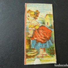Cajas de Cerillas: CROMO ENVUELTA CAJA DE CERILLAS SIGLO XIX. Lote 204060186