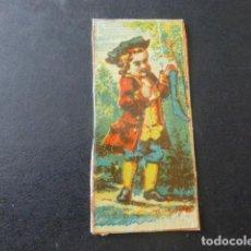 Cajas de Cerillas: CROMO ENVUELTA CAJA DE CERILLAS SIGLO XIX. Lote 204060497