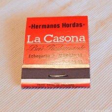 Cajas de Cerillas: CARTERITA LARGA DE CERILLAS - PUBLICIDAD. Lote 204182906