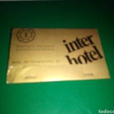 Cajas de Cerillas: ANTIGUA CAJA DE CERILLAS. INTER HOTEL. AVDA DEL GENERALÍSIMO 30 DE MADRID. Lote 204207686