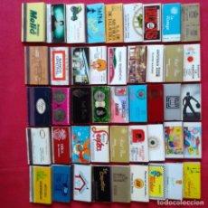 Cajas de Cerillas: EXCELENTE LOTE 395 CAJAS DE CERILLAS FOSFOROS AÑOS 70-80. DISCOTECAS, PUBS,... LLENAS. Lote 204708342