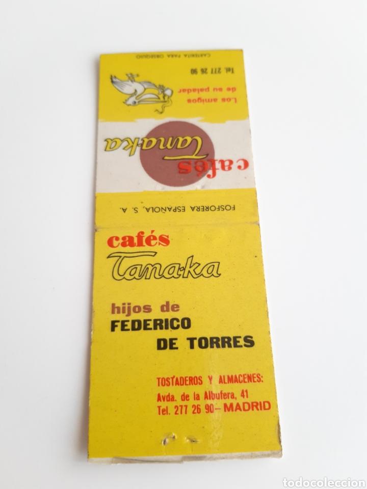 Cajas de Cerillas: CARTERITA CERILLAS - CAFE TANAKA - HIJOS DE FEDERICO DE TORRES (MADRID) - Foto 2 - 205185748